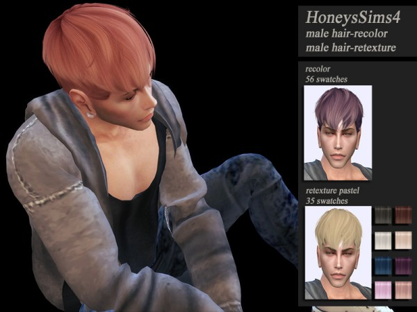 The Sims Resource: Wings OS0628 hair retextured by HoneysSims4 for Sims 4