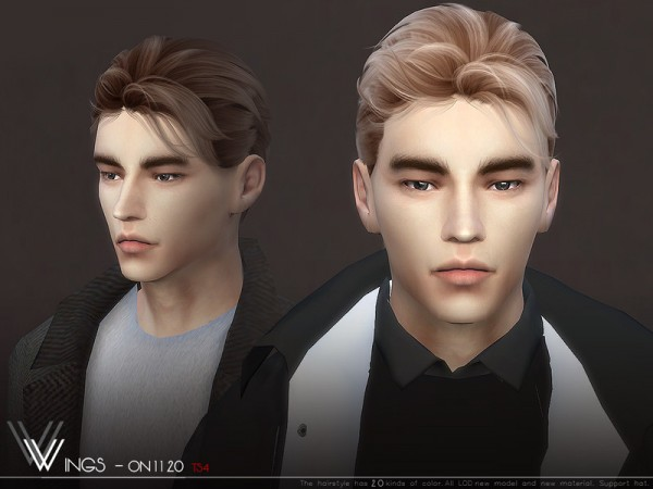 The Sims Resource: WINGS ON1120 hair for Sims 4