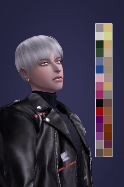 Snoopy: Stainless steel hair for Sims 4