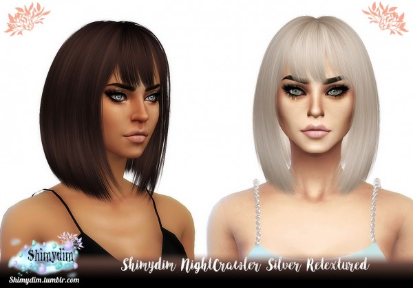 The Sims Resource: NightCrawler`s Silver Hair Retextured for Sims 4