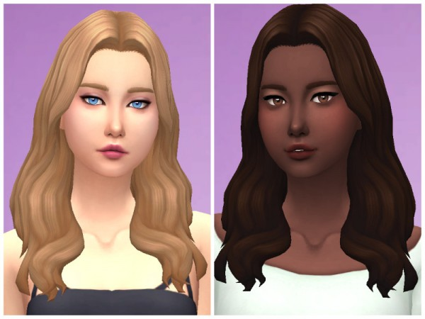 The Sims Resource: NightCrawler`s Alice hair retextured by Sylviemy for Sims 4