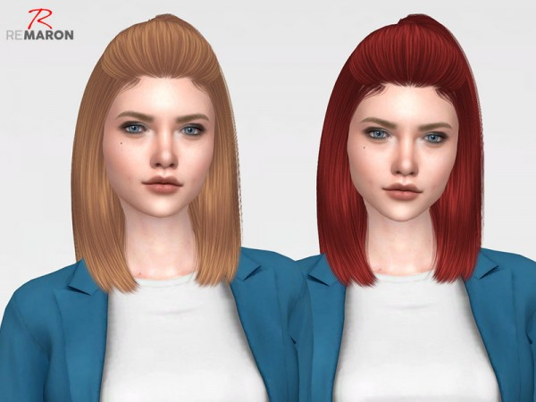 The Sims Resource: Blush Hair Retextured by remaron for Sims 4