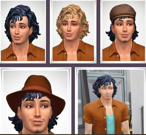 Birksches sims blog: Bangs Dodo Hair for Sims 4