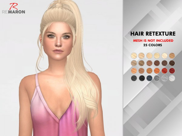The Sims Resource: S Club N15 Aria Hair Retextured by remaron for Sims 4