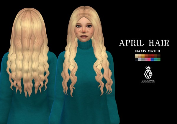 Leo 4 Sims: April Hair for Sims 4