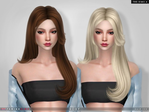 The Sims Resource: Roxy Hair 104 by TsminhSims for Sims 4