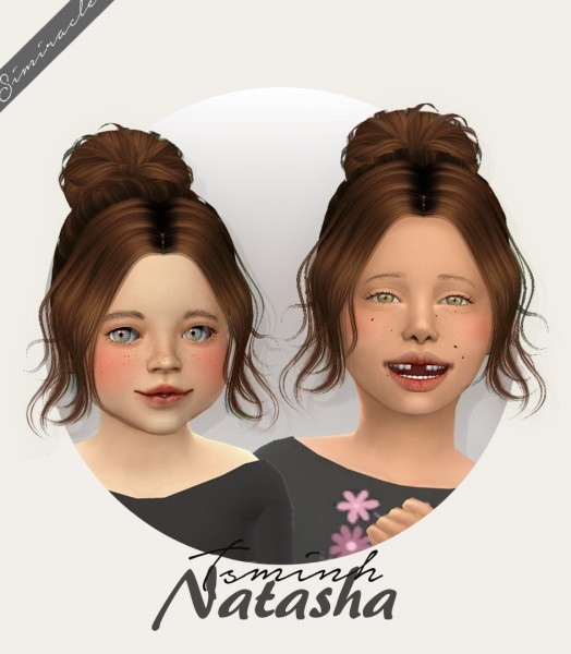 Simiracle: TSMinh`s Natasha Hair Retextured   kids and toddlers version for Sims 4