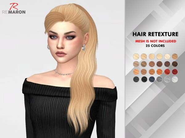 The Sims Resource: S Club`s N46 Gigi Hair Retextured by remaron for Sims 4