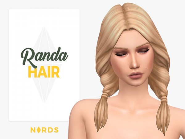 The Sims Resource: Randa Hair by Nords for Sims 4