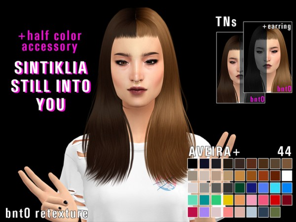 The Sims Resource: Sintiklia`s Still into you hair retextured by bnt0 for Sims 4