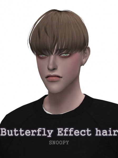 Snoopy: Butterfly Effect hair for Sims 4
