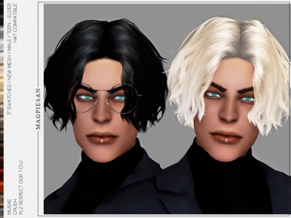 The Sims Resource: Crush Hair for Sims 4