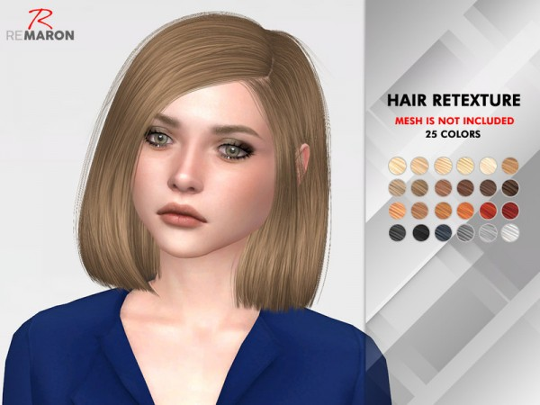 The Sims Resource: Azure Hair Retextured by remaron for Sims 4