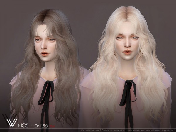 The Sims Resource: WINGS ON1216 hair for Sims 4