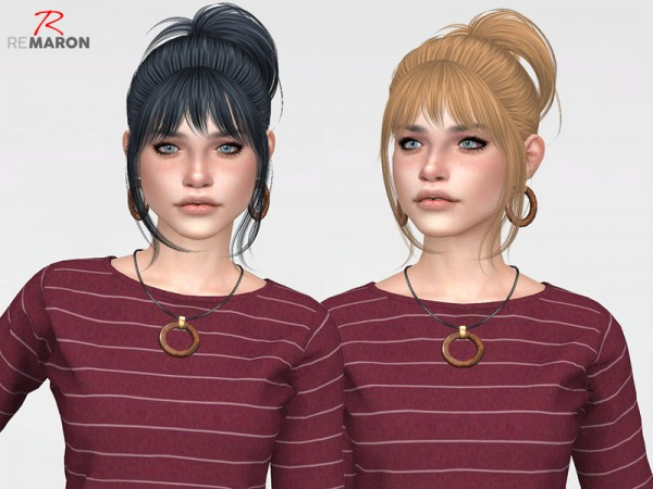 The Sims Resource: Radiance Hair Retextured by remaron for Sims 4