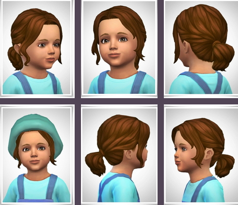 Birksches sims blog: Lacey Hair   Toddler version for Sims 4
