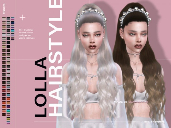 The Sims Resource: Lolla Hair by Leah Lillith for Sims 4