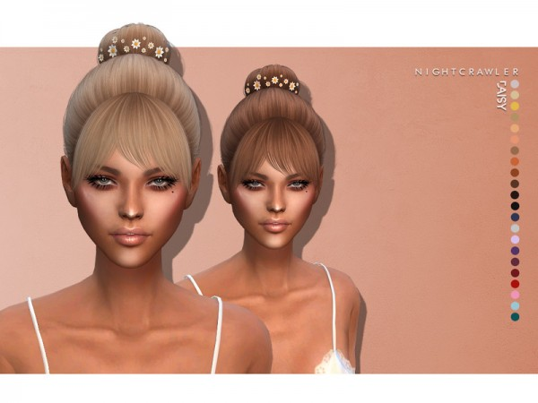 The Sims Resource: Daisy Hair by Nightcrawler for Sims 4