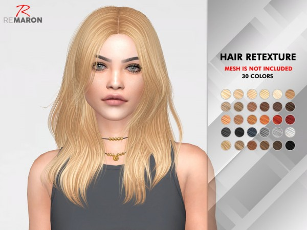 The Sims Resource: Billie Hair Retextured by remaron for Sims 4