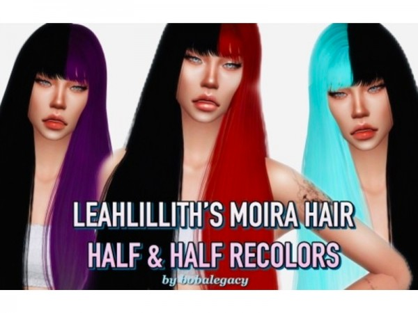 The Sims Resource: LeahLilliths Moiira Hair Recolored by bobasimmer for Sims 4