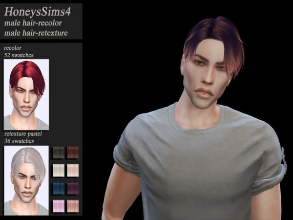 The Sims Resource: Musae`s Notre Dame Hair retextured by HoneysSims4 for Sims 4