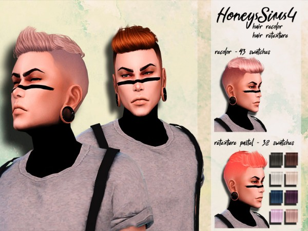 The Sims Resource: Anto`s Oliver Hair retextured by HoneysSims4 for Sims 4