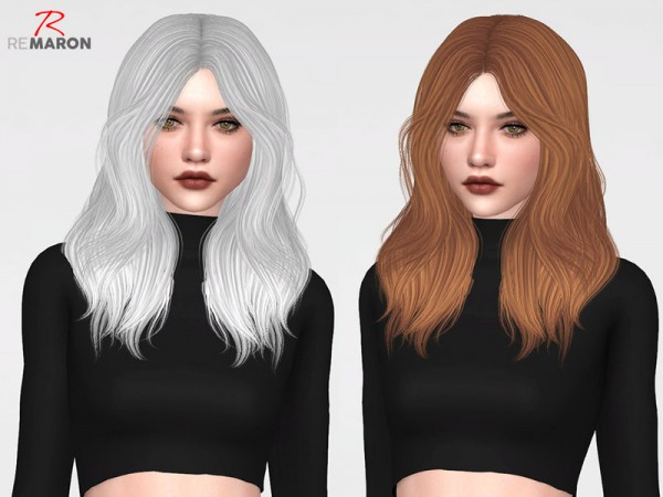 The Sims Resource: Fleur Hair Retextured by remaron for Sims 4