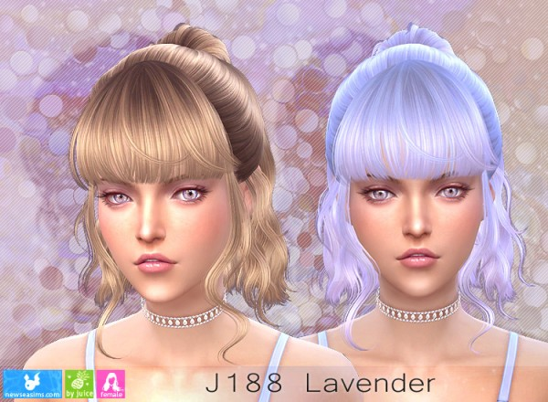 NewSea: J188 Lavender hair for Sims 4