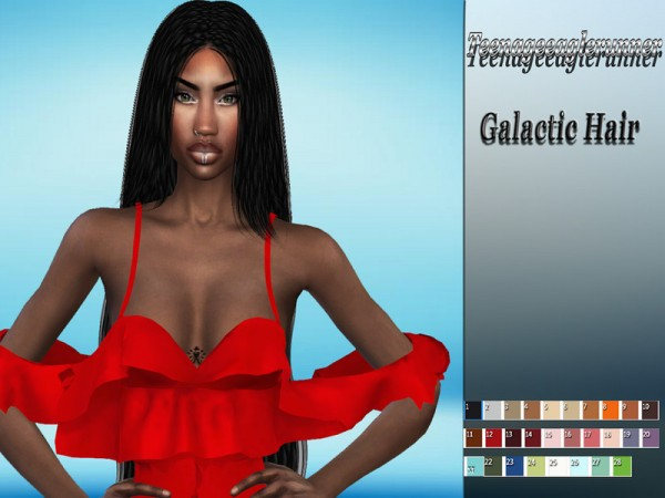 The Sims Resource: Galactic Hair Braids Recolor by Teenageeaglerunner for Sims 4