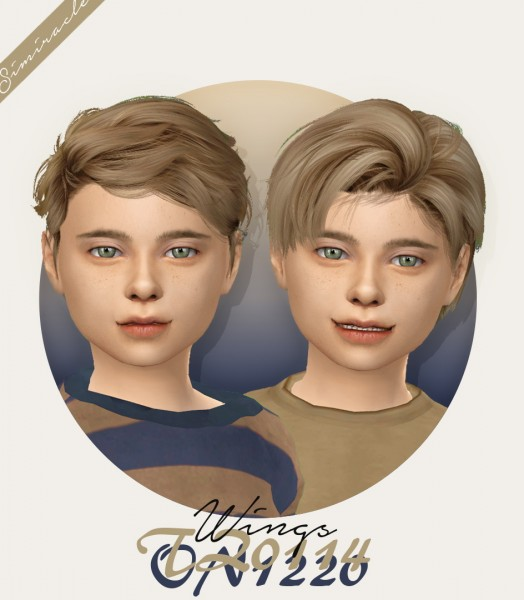 Simiracle: Wings TZ0114 and ON1220   Kids Version hair retextured for Sims 4