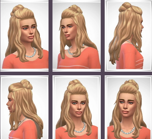 Birksches sims blog: Megan Hair for Sims 4