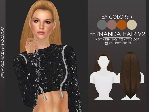 Coupure Electrique: Fernanda hair for Sims 4