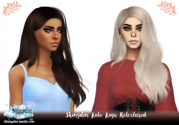Shimydim: Anto`s Anya Hair Retextured for Sims 4