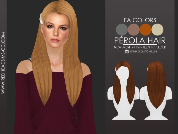 Coupure Electrique: Perola Hair for Sims 4