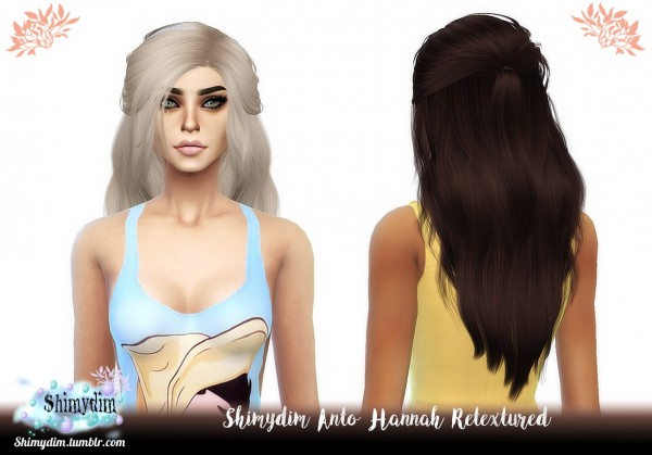 The Sims Resource: Anto`s Hannah Hair retextured for Sims 4