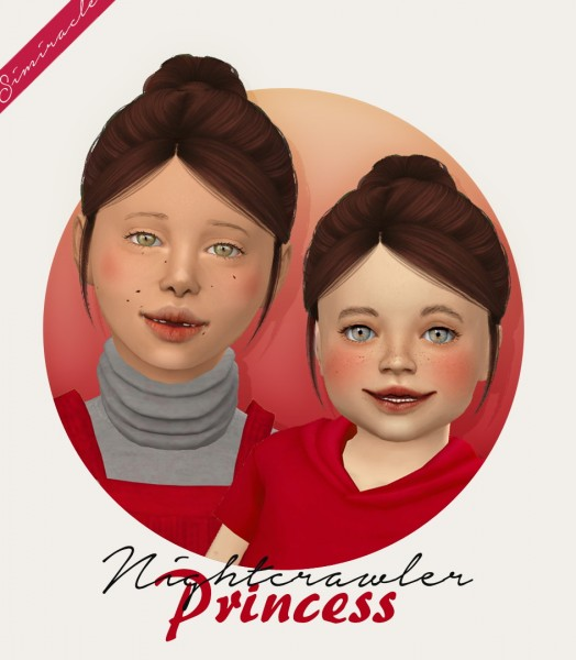 Simiracle: Nightcrawler`s Princess Hair Retextured   Kids and Toddlers version for Sims 4