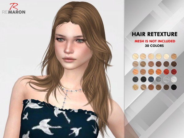 The Sims Resource: On1118 hair retextured by remaron for Sims 4