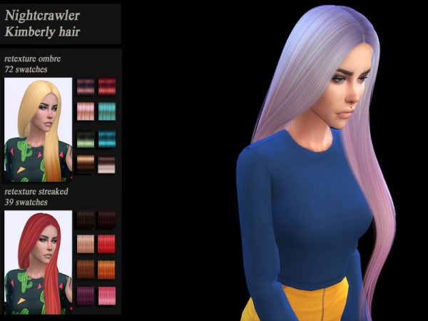 The Sims Resource: Nightcrawler`s hair retextured by HoneysSims4 for Sims 4