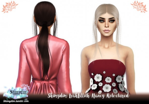 Shimydim: LeahLillith`s Nancy Hair Retextured for Sims 4