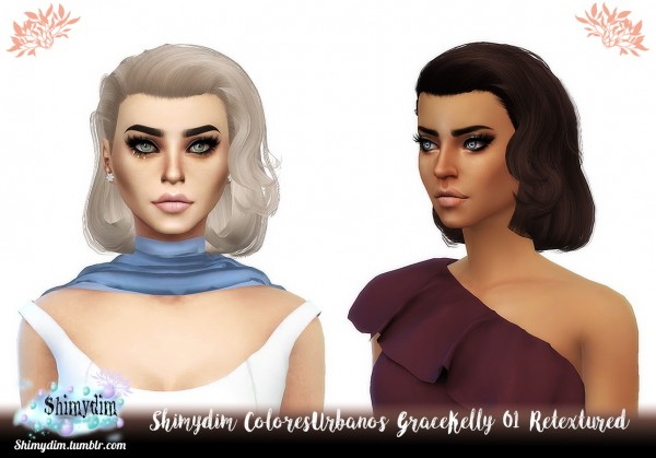 Shimydim: ColoresUrbanos Grace Kelly 01 Hair Retextured for Sims 4