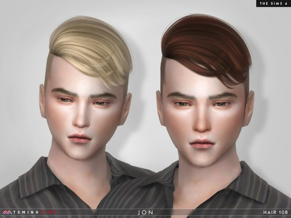 The Sims Resource: Jon Hair 108 by TsminhSims for Sims 4