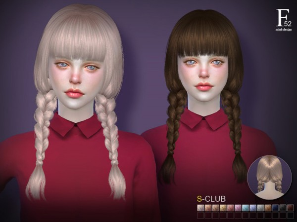 The Sims Resource: Hair n52 by S club for Sims 4