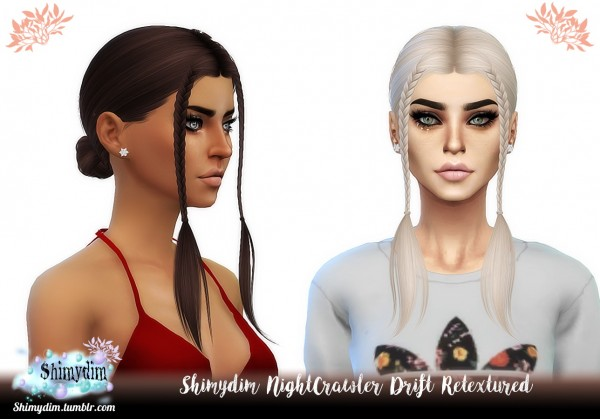 Shimydim: NightCrawler`s Drift Hair Retextured for Sims 4