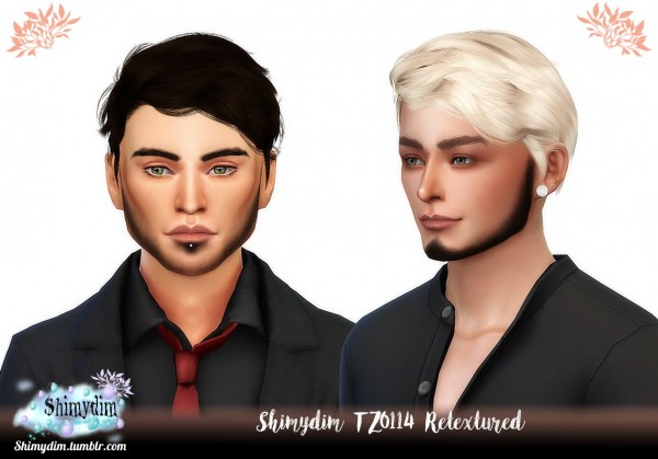 Shimydim: Wings TZ0114 hair retextured for Sims 4