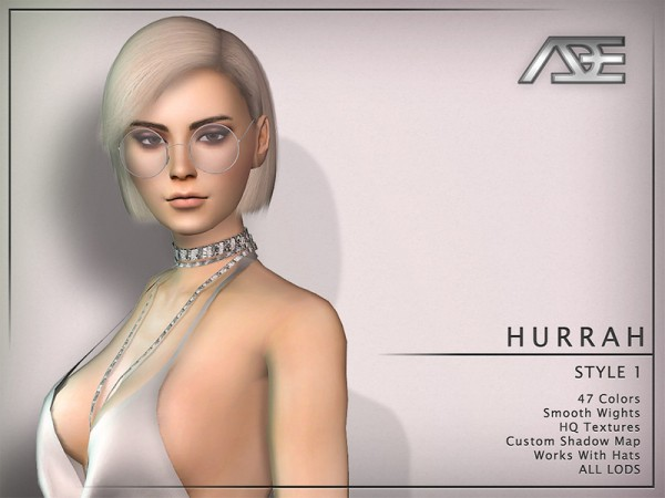 The Sims Resource: Hurrah Style 1 Hair by Ade Darma for Sims 4