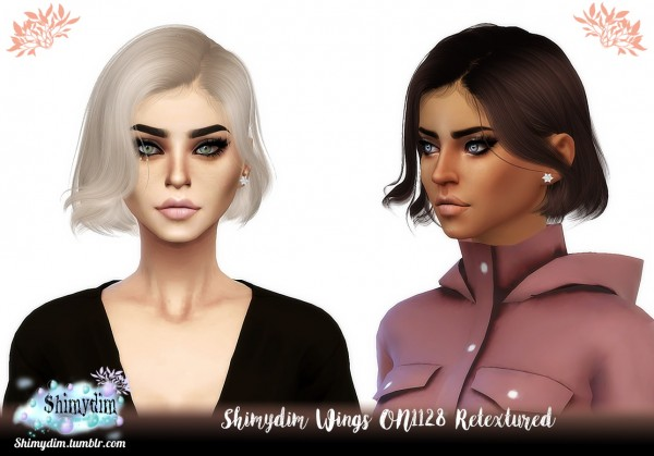 Shimydim: Wings ON1128 Hair Retextured for Sims 4
