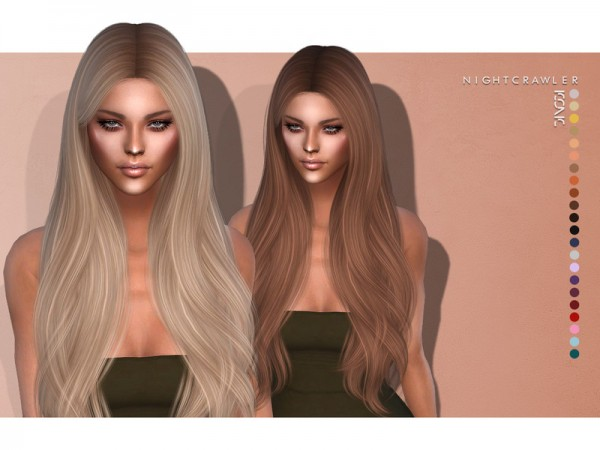 The Sims Resource: Iconic Hair by Nightcrawler for Sims 4