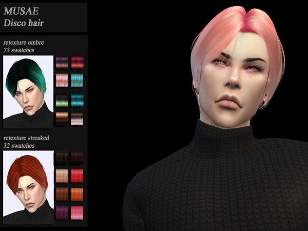 The Sims Resource: Musae`s Disco Hair retextured by HoneysSims4 for Sims 4