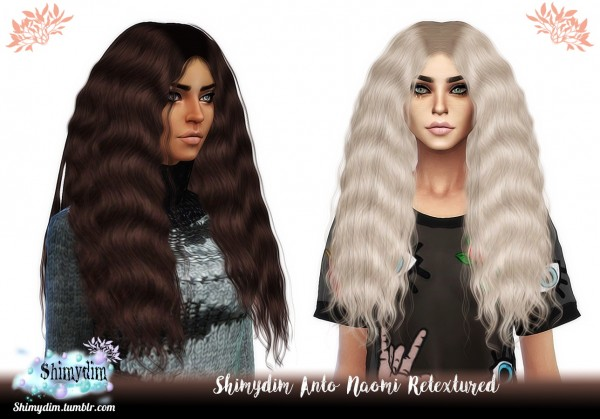The Sims Resource: Anto`s Naomi Hair Retextured for Sims 4