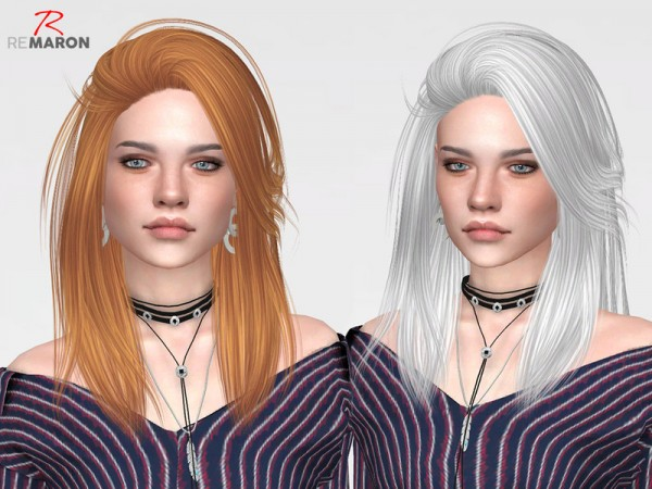 The Sims Resource: Pretty Thoughts Hair Retextured by remaron for Sims 4